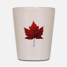 Canada Maple Leaf Shot Glass