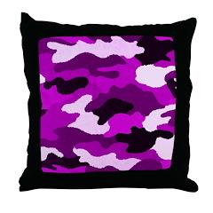 Purple Camo Throw Pillow