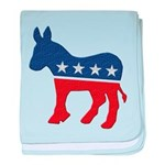 Democrat Donkey Logo baby blanket