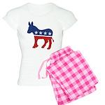 Democrat Donkey Logo Women's Light Pajamas