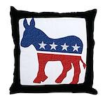 Democrat Donkey Logo Throw Pillow