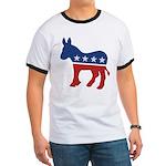 Democrat Donkey Logo Ringer T