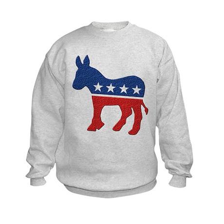 Democrat Donkey Logo Kids Sweatshirt