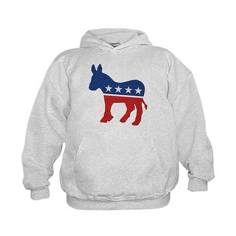 Democrat Donkey Logo Kids Hoodie