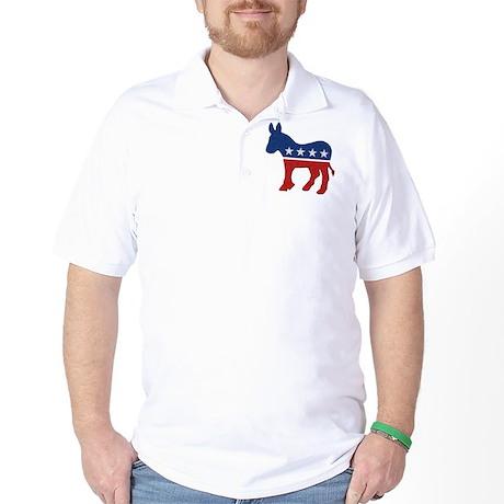 Democrat Donkey Logo Golf Shirt