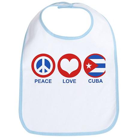 Peace Love Cuba Bib