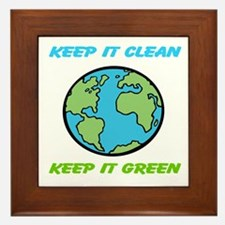 Keep it green Framed Tile