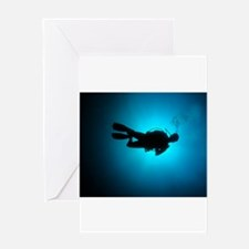 Funny Diver Greeting Card