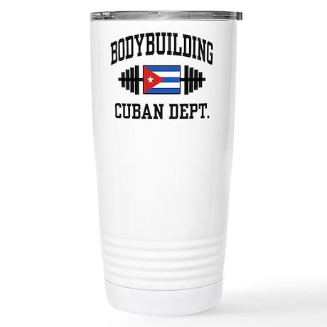 Cuban Bodybuilder Stainless Steel Travel Mug