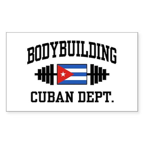 Cuban Bodybuilder Sticker (Rectangle)