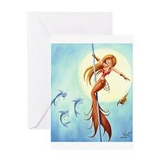 pole_dancing_mermaid_ Greeting Cards