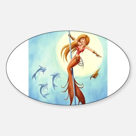 pole_dancing_mermaid_ Decal