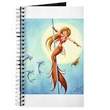 Mermaid pole Journals & Spiral Notebooks