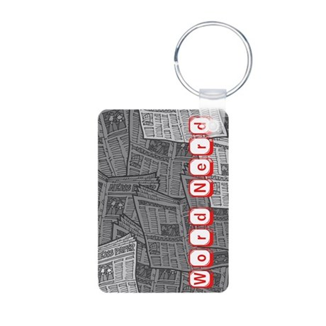 Word Nerd Aluminum Photo Keychain