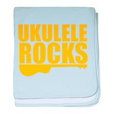 ukulele rocks baby blanket