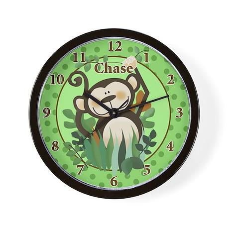 Cute Zoo Crew Monkey Jungle Wall Clock