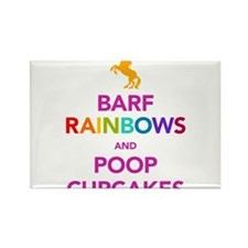 Barf Rainbows and Poop Cupcak Rectangle Magnet
