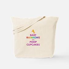 Barf Rainbows and Poop Cupcak Tote Bag