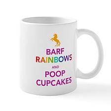 Barf Rainbows and Poop Cupcak Mug