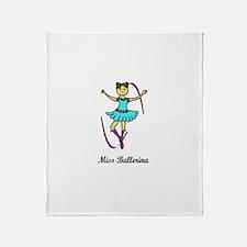 Miss ballerina Throw Blanket