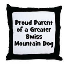 Proud Parent of a Greater Swi Throw Pillow