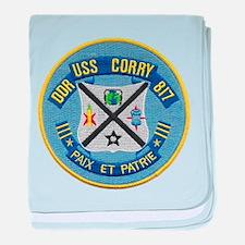 USS CORRY baby blanket