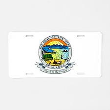 Alaska Seal Aluminum License Plate