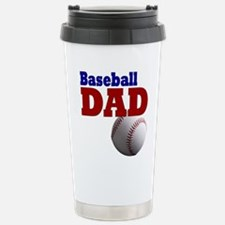 Baseball Dad: Stainless Steel Travel Mug