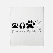 Protect Wildlife Throw Blanket