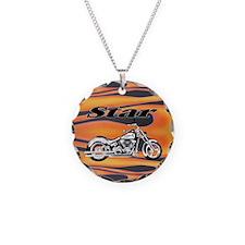 Flamin' Star Bike Necklace