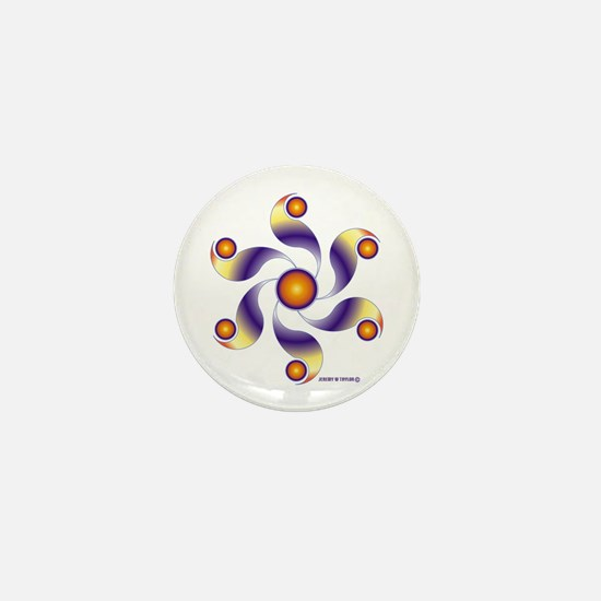 Crop Circle Mini Button