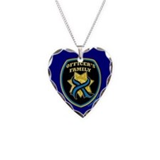 ThinBlueLine Officer's Family Necklace Heart Charm