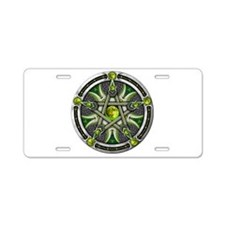 Pentacle of the Green Moon Aluminum License Plate