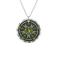 Pentacle of the Green Moon Necklace