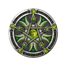 """Pentacle of the Green Moon 3.5"""" Button"""