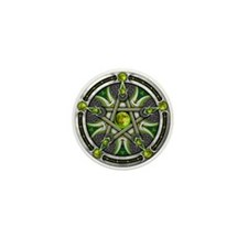 Pentacle of the Green Moon Mini Button
