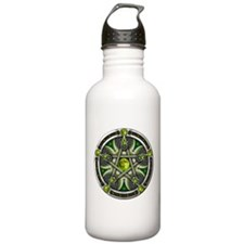 Pentacle of the Green Moon Water Bottle