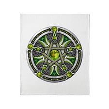 Pentacle of the Green Moon Throw Blanket
