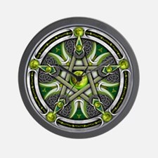 Pentacle of the Green Moon Wall Clock