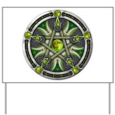 Pentacle of the Green Moon Yard Sign