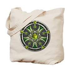 Pentacle of the Green Moon Tote Bag