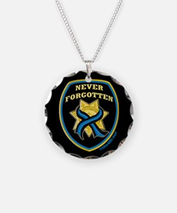 Thin Blue Line NeverForgotten Necklace