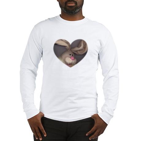 BUNNY FACE HEART Long Sleeve T-Shirt
