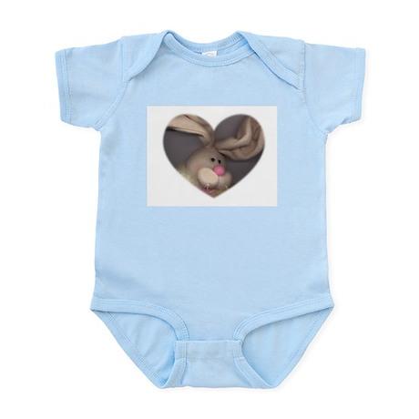 BUNNY FACE HEART Infant Creeper