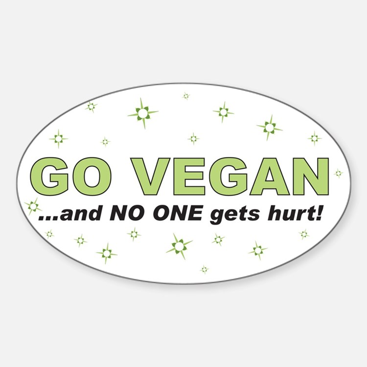 Go Vegan Oval Decal