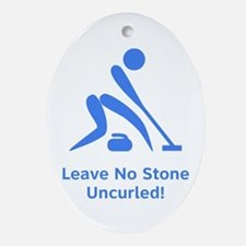 Leave No Stone Uncurled! Ornament (Oval)
