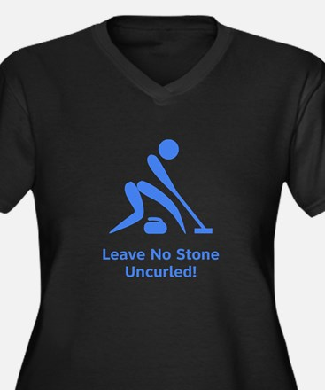 Leave No Stone Uncurled! Women's Plus Size V-Neck