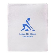 Leave No Stone Uncurled! Throw Blanket