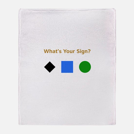 What's Your Sign? Throw Blanket
