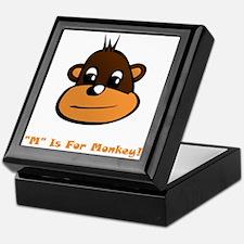 """M"" Is For Monkey! Keepsake Box"